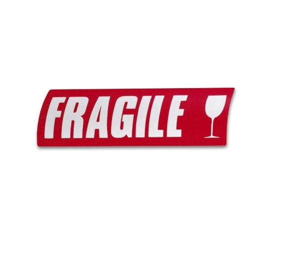 Célèbre Étiquette fragile • 16,5x5,5cm. - Top Carton FS03