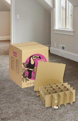 Carton + Croisillons 75 verres - Carton de déménagement chez Top Carton